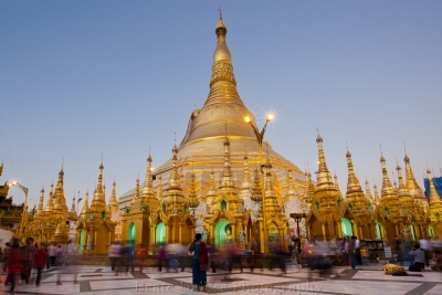 Evening At The Shwedagon Pagoda