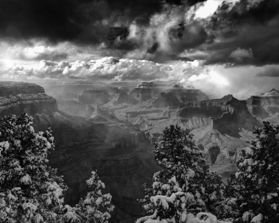 Grand Canyon After A Snowstorm