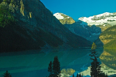 Lake Louise Reflections At Sunrise