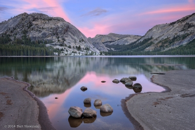 Tenaya Lake, Rocks And Last Light