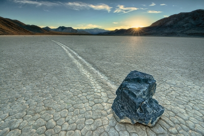 Sailing Stones Of Racetrack Playa