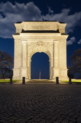Night Photo Valley Forge Arch