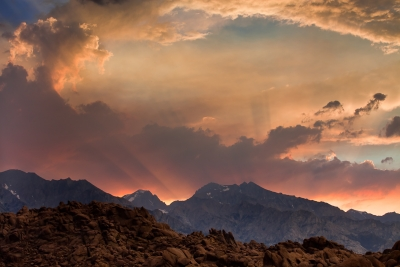 Monsoon Sunset, Eastern Sierra Nevada