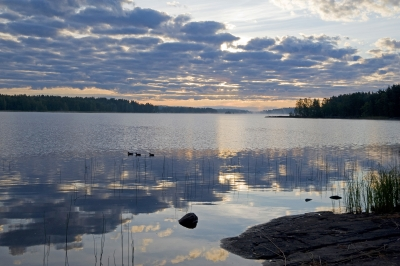 Finland Lake Sunrise