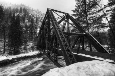 Tumwater Pipeline Bridge In Winter