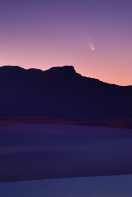Comet Pan-starrs And White Sands