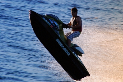 Jetskier Flying