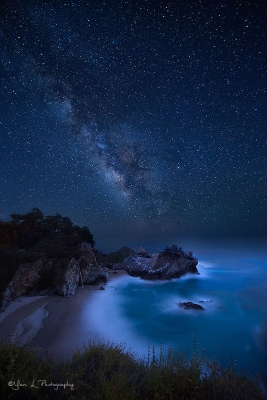 Milky Way Over Mcway Fall