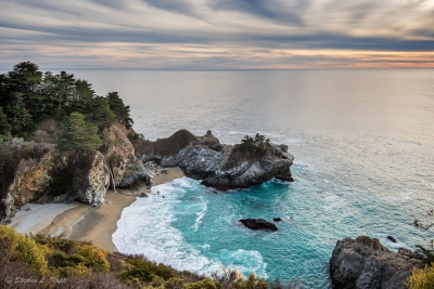 Mcway Falls & Colorful Sky Canopy