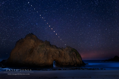Pfeiffer Beach Eclipse