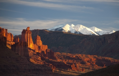 Last Light On Fisher Towers