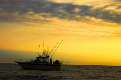 Lake Ontario Sunrise Salmon  Fishing