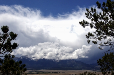 Clouds Over The Collegiate Peaks