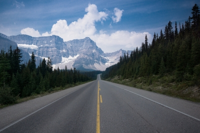 The Road To Crowfoot Mountain
