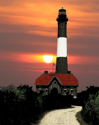 Fire Island In The Sunset