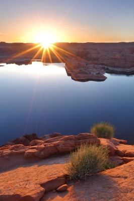 Lake Powell Morning Sunburst