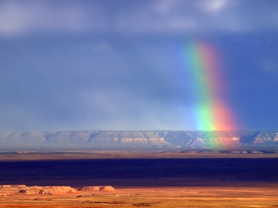 Rainbow Over Kanab Creek