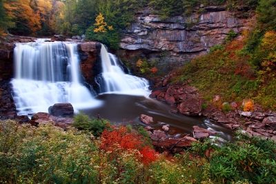 Scenic Blackwater Falls Autumn Foliage