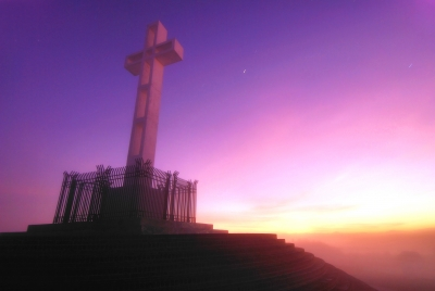 Mount Soledad Cross (foggy Dawn)