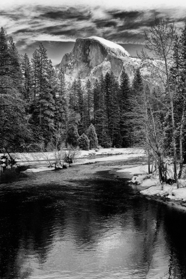 Half Dome In Winter