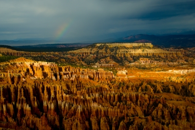 Rainbow Over Bryce Canyon