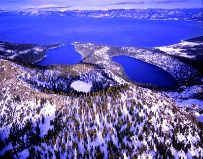 Lake Tahoe's Emerald Bay In Winter