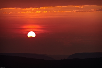 """Sunset Over """"the Gap"""""""