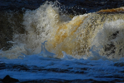 Churning Waters Of Fall