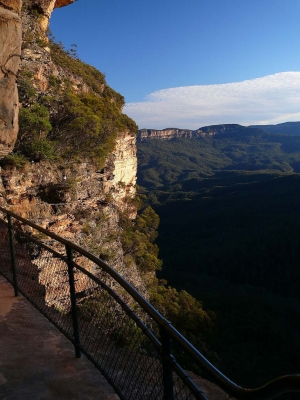 The Cliff Walk At Wentworth Falls In The Blue Mountains, Nsw