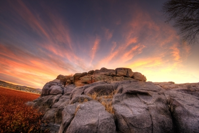 Rock Wall Sunset