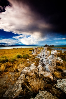 Tufa And Storm Clouds