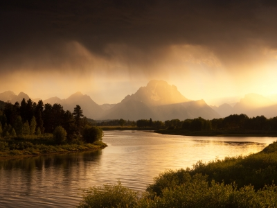 Oxbow Bend, Approaching Storm, Grand Teton National Park, Wyoming