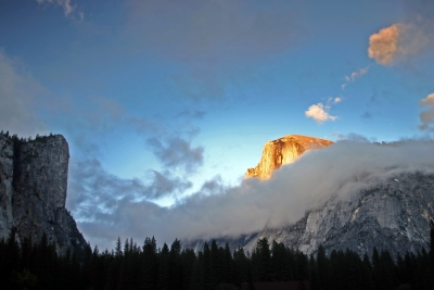 Low Clouds Roll In Below Half Dome