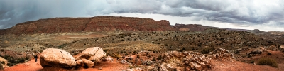 Storm Clouds Roll Over Arches National Park