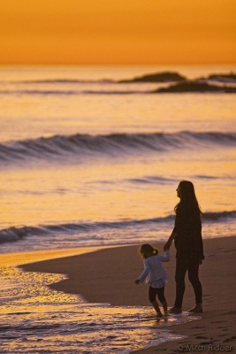 Mother & Daughter Sunset