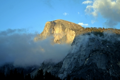 Low Clouds On Half Dome