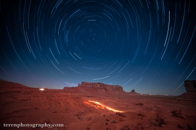 Star Circles Over Monument Valley