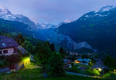 Twilight Over Wengen