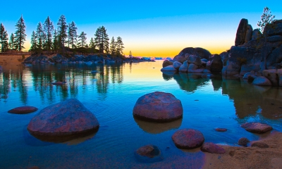 Sunrise Glory Over Lake Tahoe