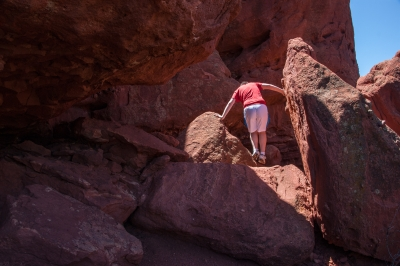 Climbing The Red Rocks