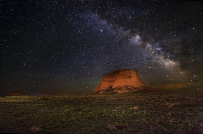 Pawnee Butte And Milky Way