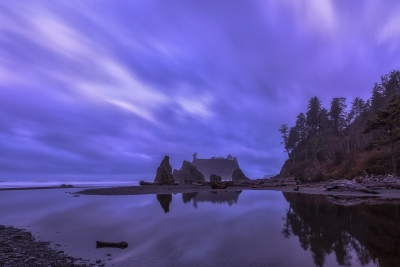 Pre-dawn At Ruby Beach