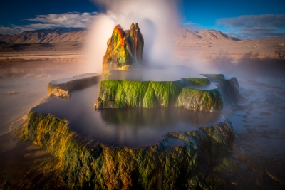 Aerial View Of Fly Geyser