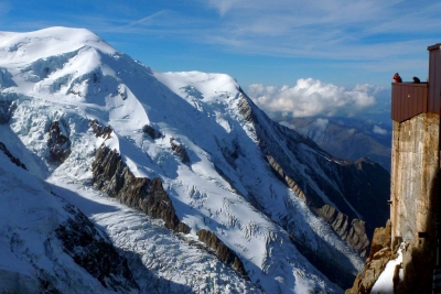 Glacial View (mont Blanc) In The French Alps