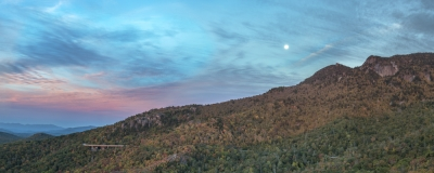 Moonset Over Grandfather Mountain