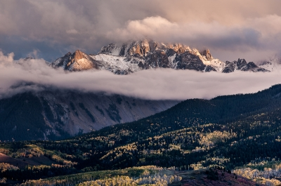 Cloudy Sunset – Sneffels