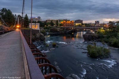 Spokane Night By The River