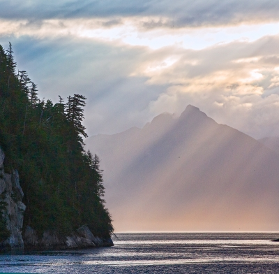 Morning Light In Frederick Sound