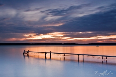 Torch Lake Twilight Off The Dock