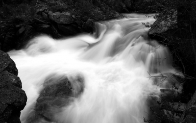 Mad River In Black And White